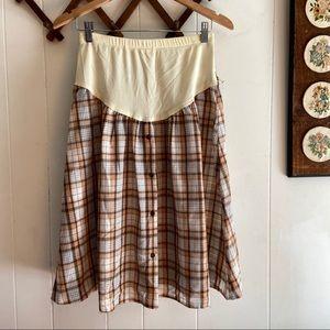 Vintage Plaid Maternity Skirt
